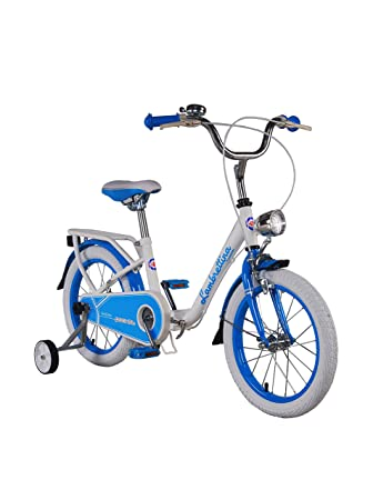 "LAMBRETTINA Bicicleta Plegable 16"" Folding Azul/Blanco"