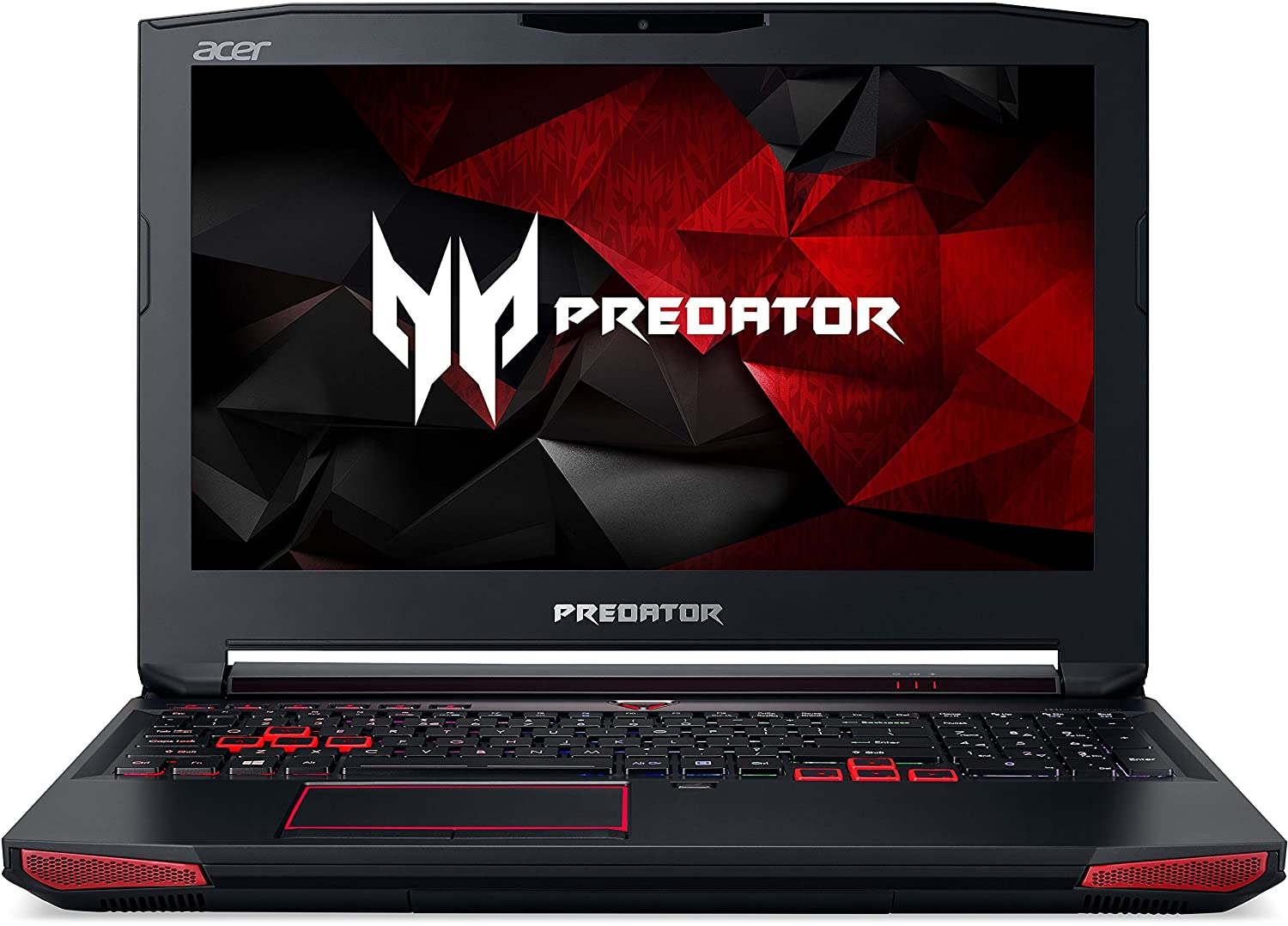 Acer Predator 15 Notebook i7-7700HQ PCIe SSD matt Full HD GTX1060 Windows 10, Negro, Rojo