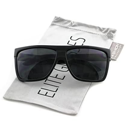 4ceb8c2d1b9 Amazon.com  Elite Oversized Aviator Sunglasses Flat Top Square Vintage  Retro Fashion Men Women  Sports   Outdoors