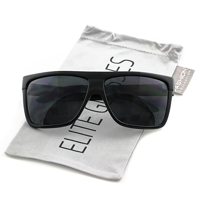 fcb11952dfd Elite Oversized Aviator Sunglasses Flat Top Square Vintage Retro Fashion Men  Women: Amazon.in: Clothing & Accessories