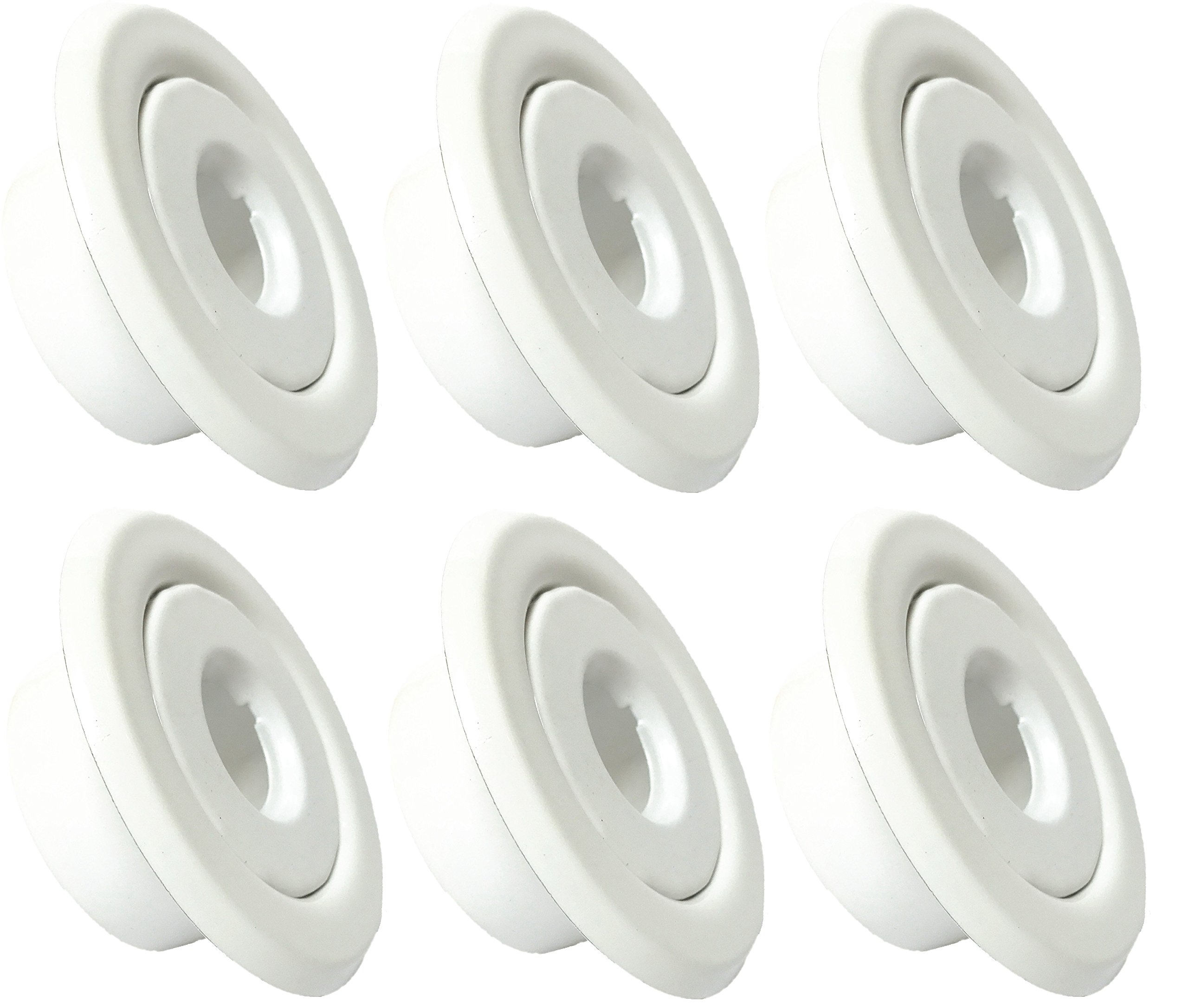 Happy Tree (6 Pack) 1/2'' IPS Fire Sprinkler Head Escutcheon Standard Recessed Cover Two Piece Rosette White