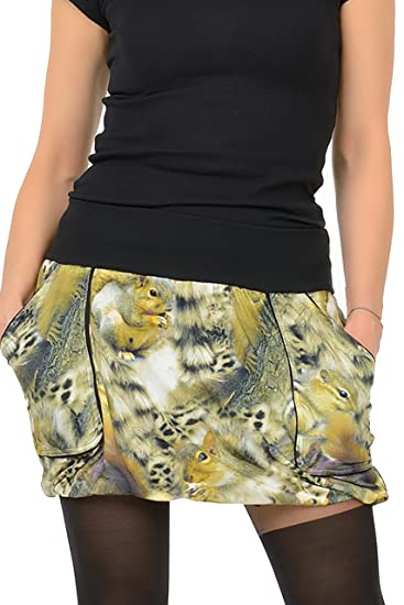 c80dc925afd1 3Elfen Balloon skirt with pockets squirrels  Amazon.co.uk  Clothing