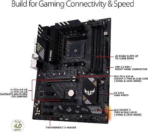 Asus Tuf Gaming B550 Plus Amd Am4 Zen 3 Ryzen 5000 Computers Accessories
