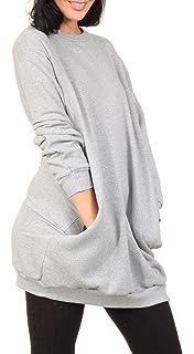 Oversize Pullover Sweatshirt Damen Sweater - Viele Farben - Pulli Hipster  Longshirt Oversized Shirt bc3ff8fe5d