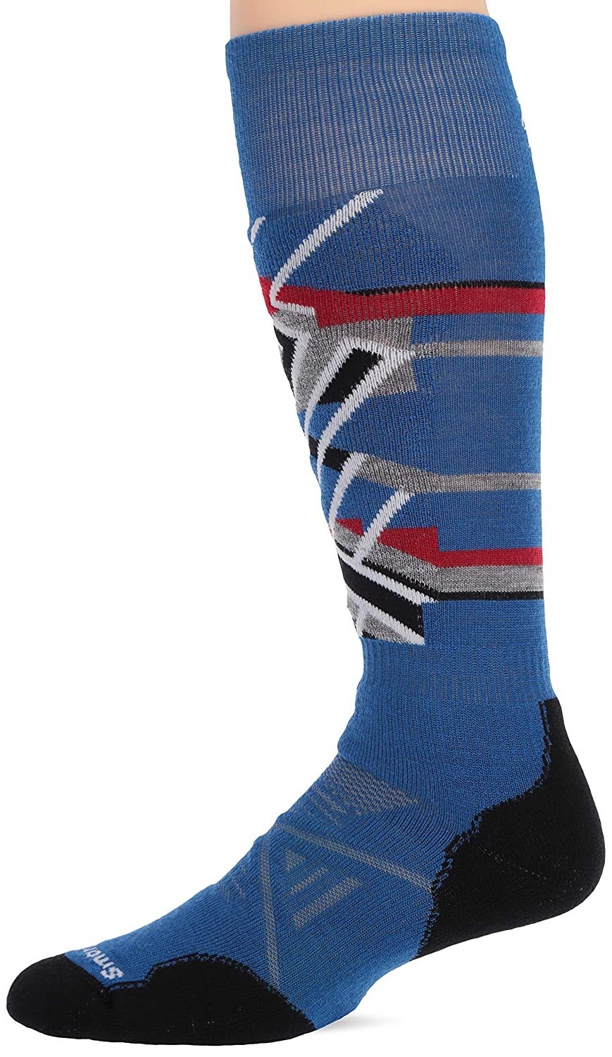 Smartwool Herren PhD Ski Medium Pattern Socks, Bright Blue, L