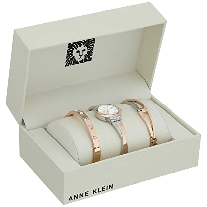 ee78cff38db85 ... Anne Klein Women s AK 2245RTST Swarovski Crystal Accented Rose Gold-Tone  and Silver- ...
