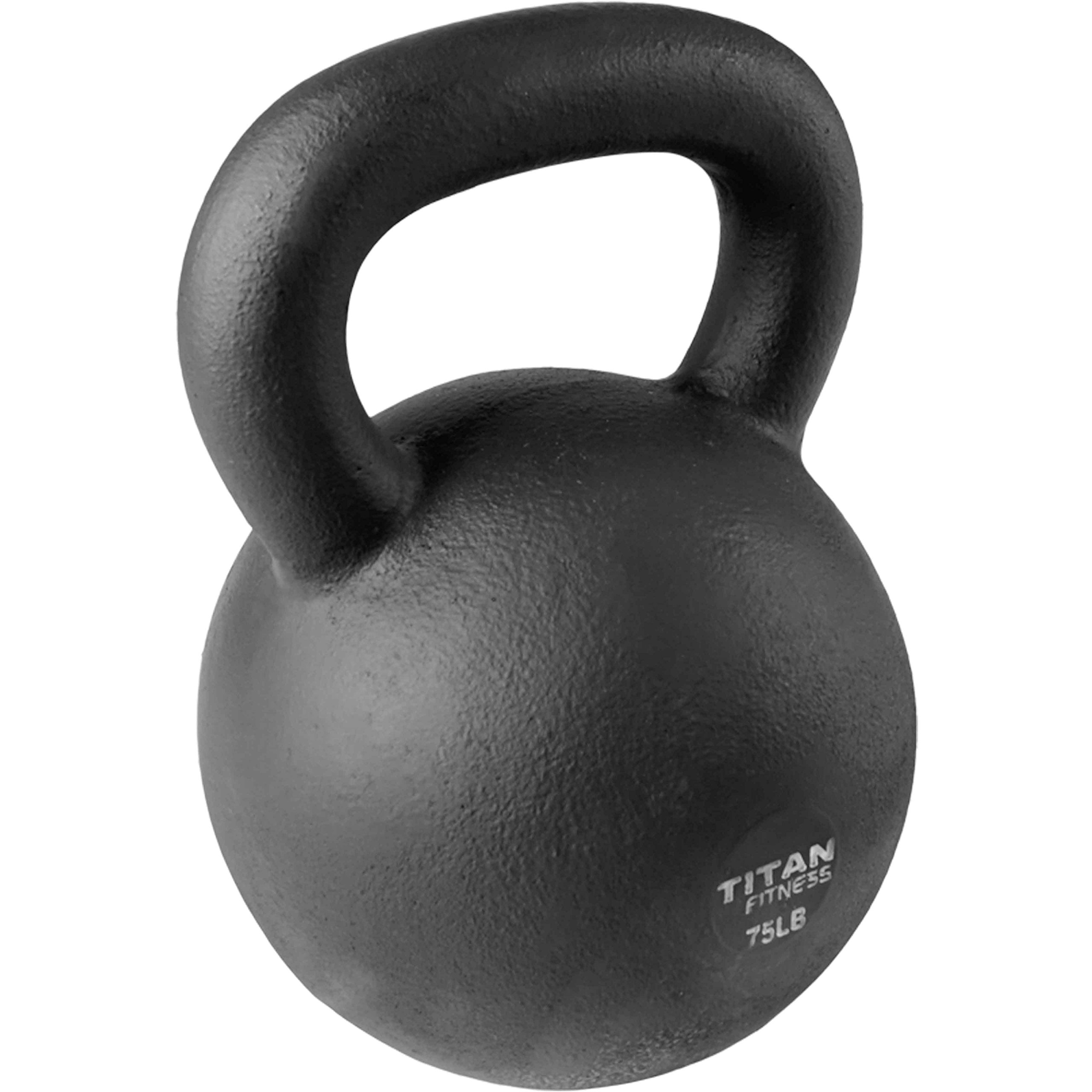 Cast Iron Kettlebell Weight 75 lb Natural Solid Titan Fitness Workout Swing by Titan Fitness (Image #5)