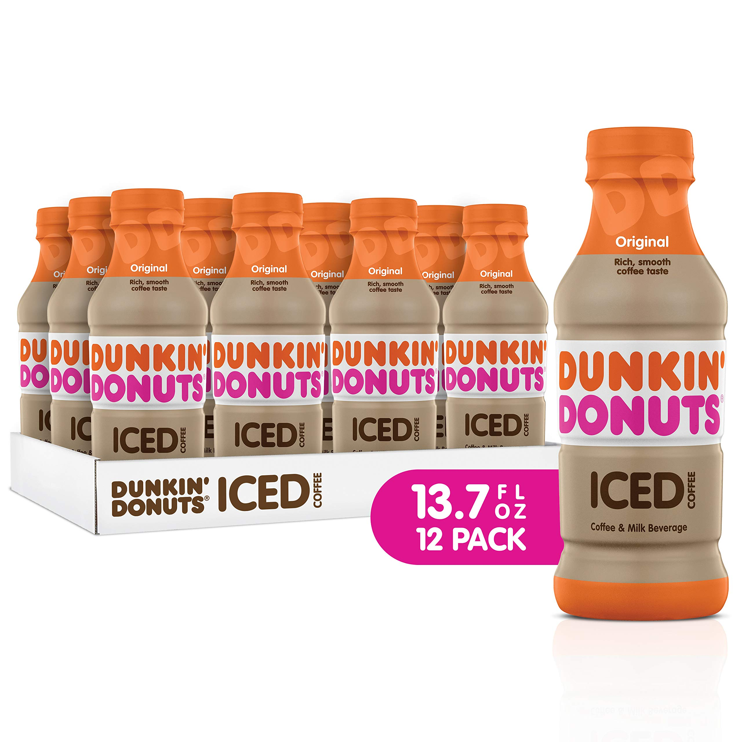 Dunkin Donuts Iced Coffee, Original, 13.7 Fluid Ounce (Pack of 12) by Dunkin Donuts