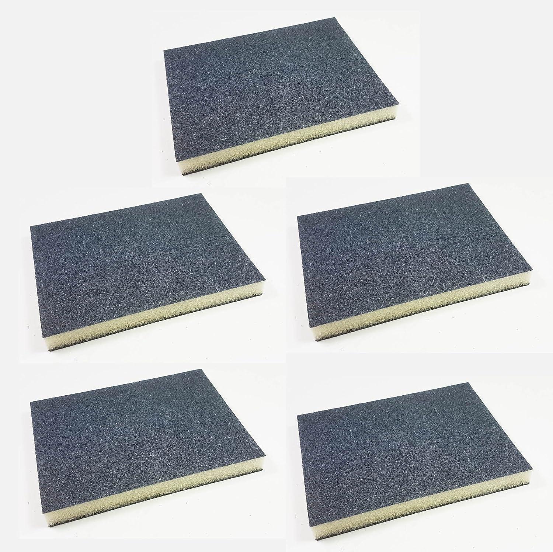 5 Stü ck Craft-Equip 123 x 98 x 12mm Siliciumc. Schleifmatte Schleifklotz Schleifschwamm (Korn 280) Fahrzeugteile Hoffmann