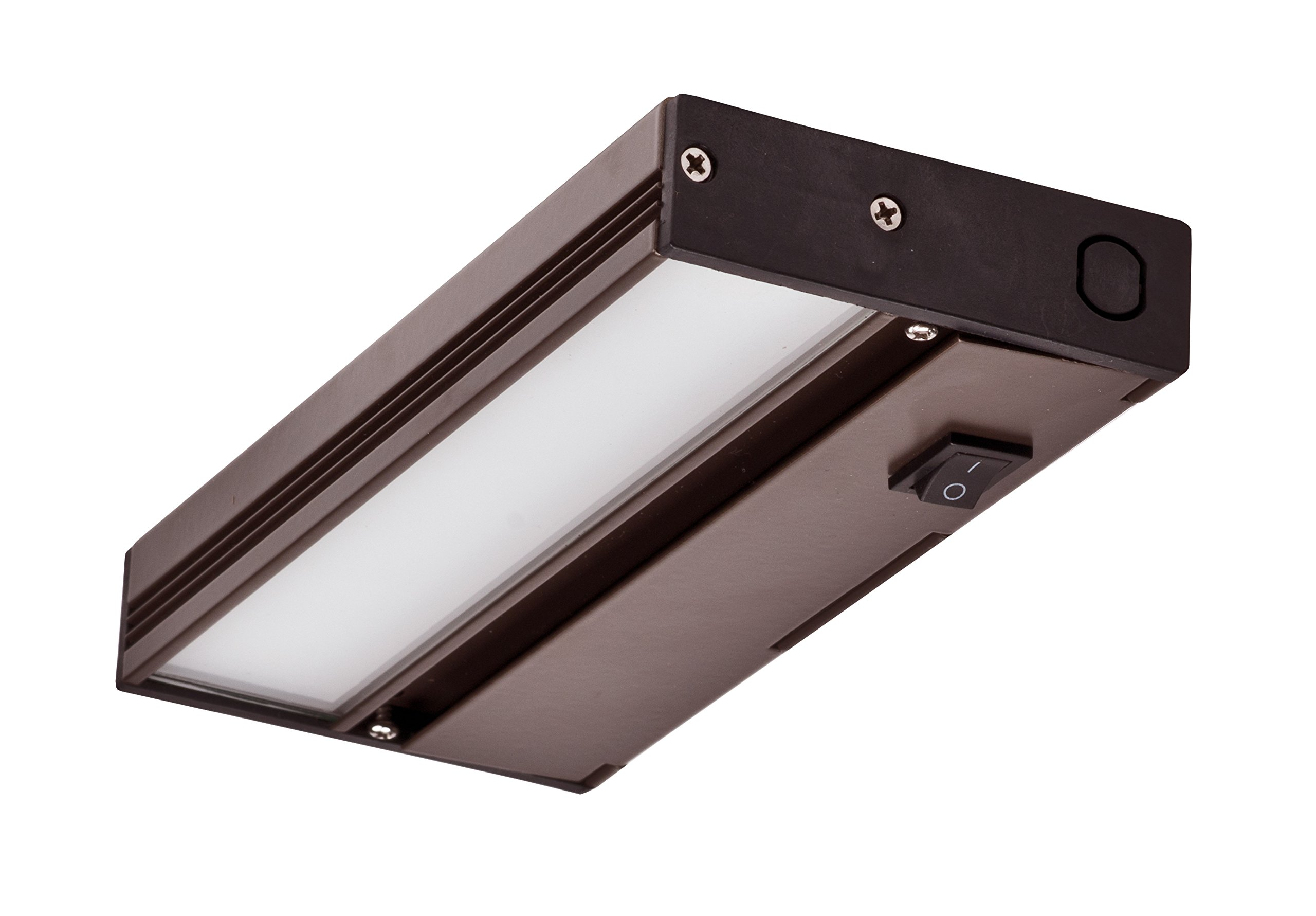 NICOR Lighting 8-Inch Slim Dimmable 2700K LED Under Cabinet Light Fixture, Oil-Rubbed Bronze (NUC-4-08-DM-W-OB)