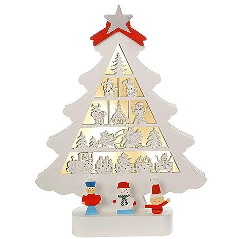 ca17edd14d WeRChristmas-albero di Natale in legno, decorazione a  silhouette, con