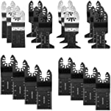 20PCS Wood/Bi-Metal Universal Oscillating Multitool Quick Release Saw Blades, Oscillating Tool Blades
