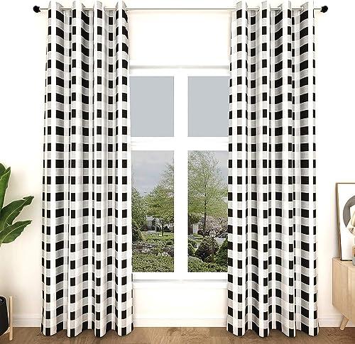 Fumive Buffalo Plaid Blackout Curtains