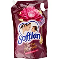 Softlan Divine Pleasures Fabric Softener Refill, Midnight Lotus & Hydrangeas, 1.3L