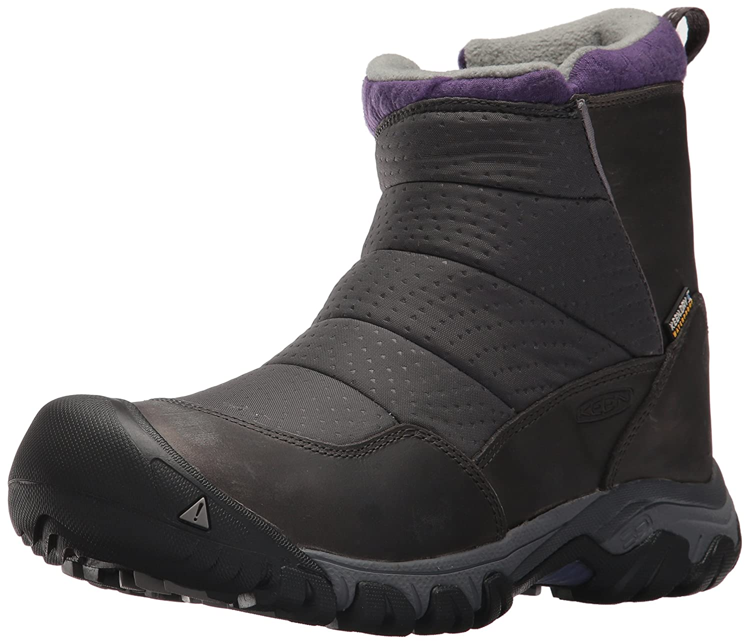 KEEN Women's Hoodoo III Low Zip-w Snow Boot B01N95PCSI 7 B(M) US|Earl Grey/Purple Plumeria