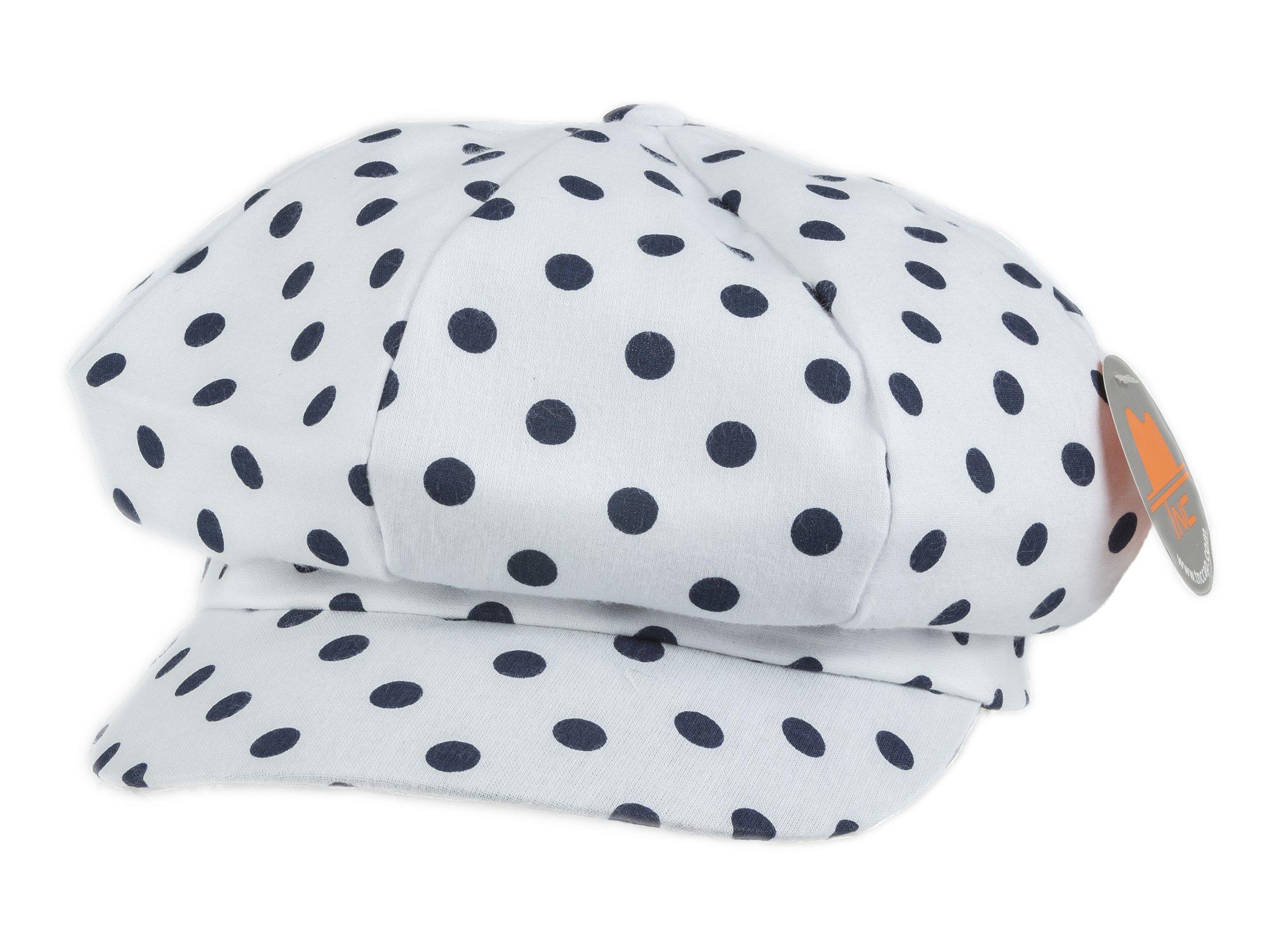 257a2b45cfd TNC newsboy Gatsby IVY Cap Golf Cabbie Driving Hat With Dot Print White