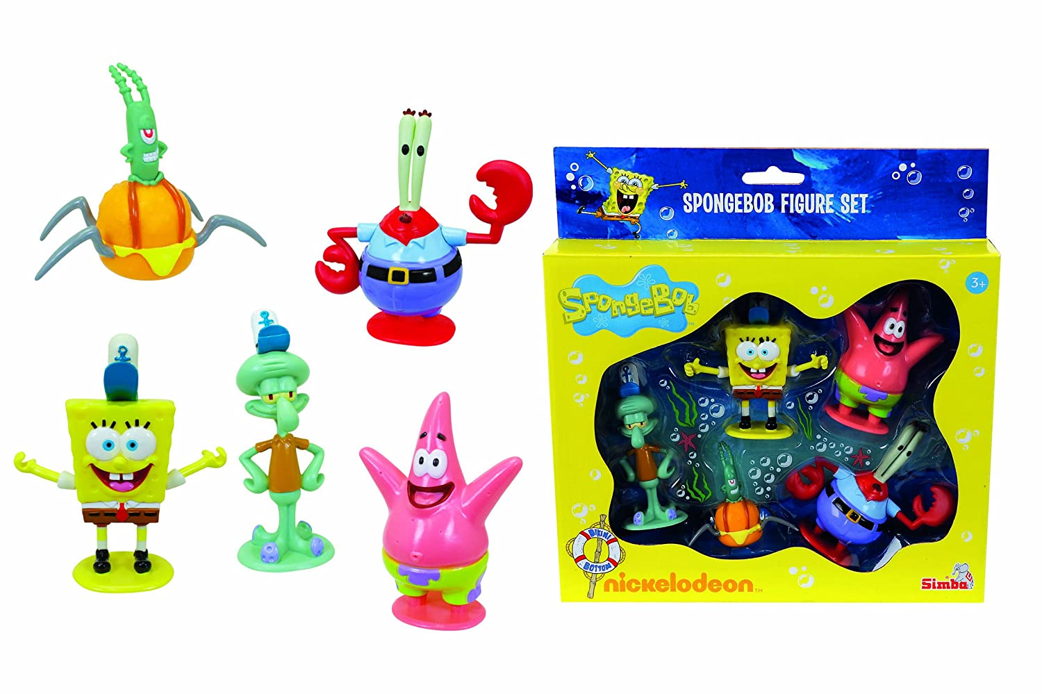 amazon com spongebob squarepants 5 figure playset spongebob