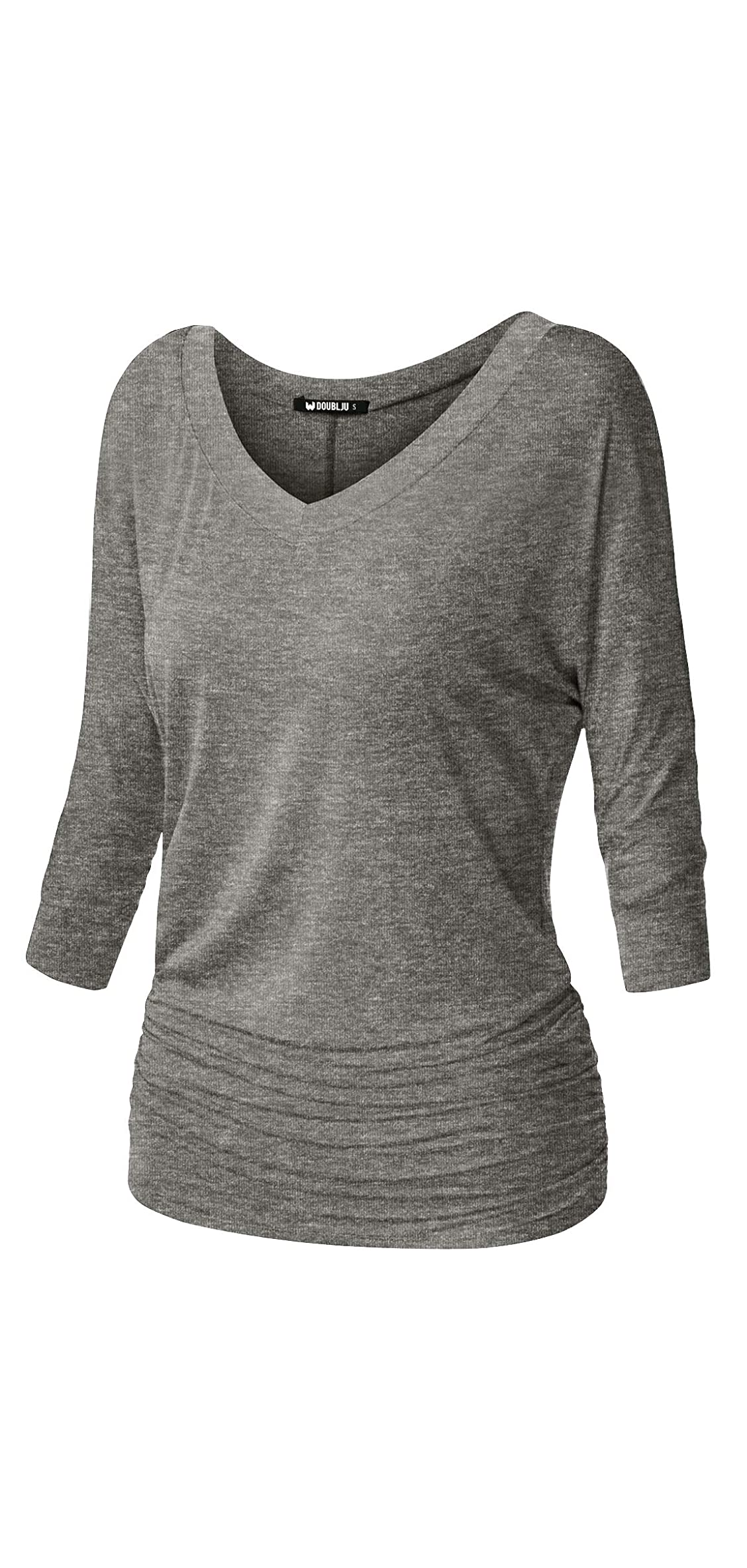 Womens / Sleeve Dolman Drape Top With Side Shirring Fit