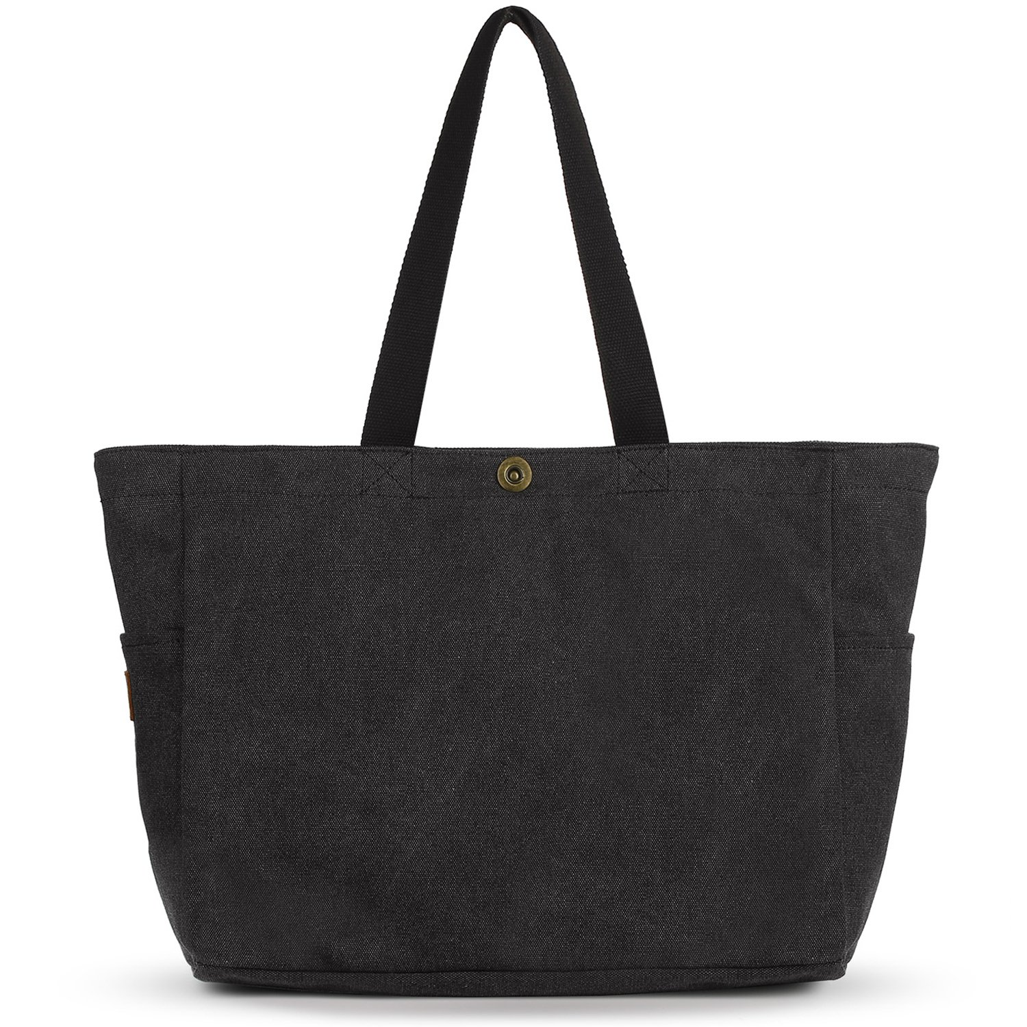 SMRITI Large Canvas Tote Bags for School Work Travel and Shopping - Dark Grey