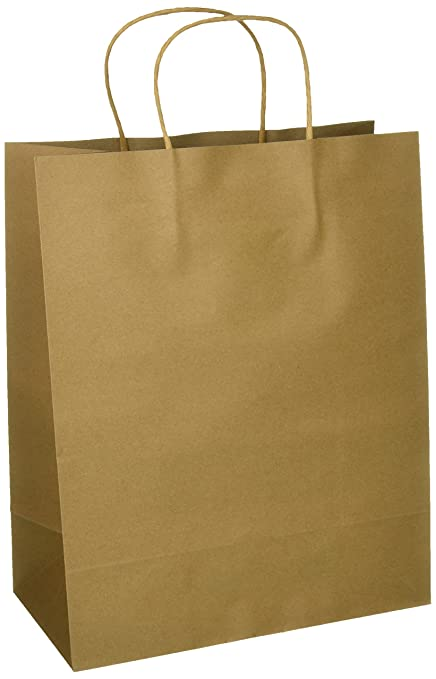Amazon craft gift bags brown paper 1 dozen 10 x 5 x 13 craft gift bags brown paper 1 dozen 10quot negle Choice Image