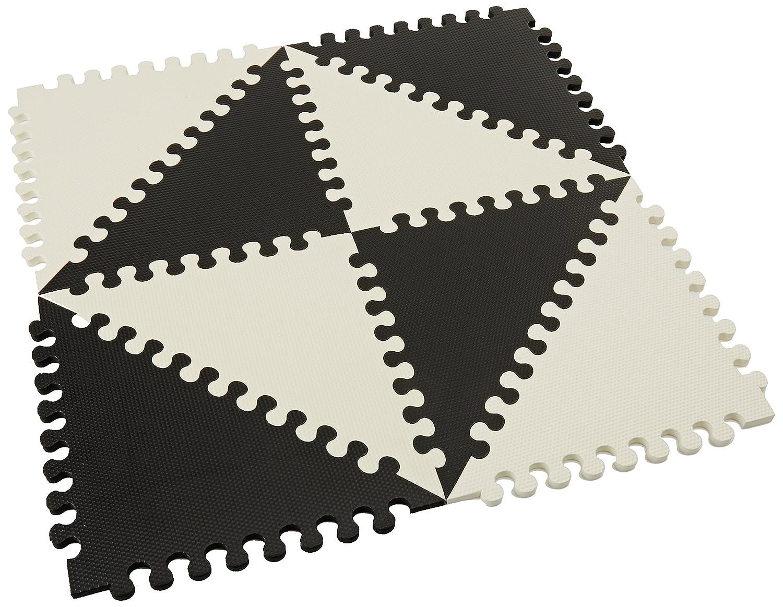 SKIP HOP Play Spot Geo Black Cream - Spielteppich