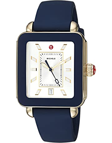 1f58fc87e67 Michele Women s Deco Sport Navy Silicone Watch