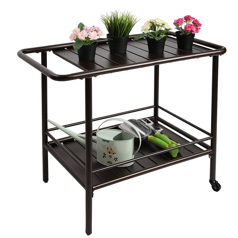 Amazon.com : Finnhomy Garden Service Cart Display Potting Serving ...
