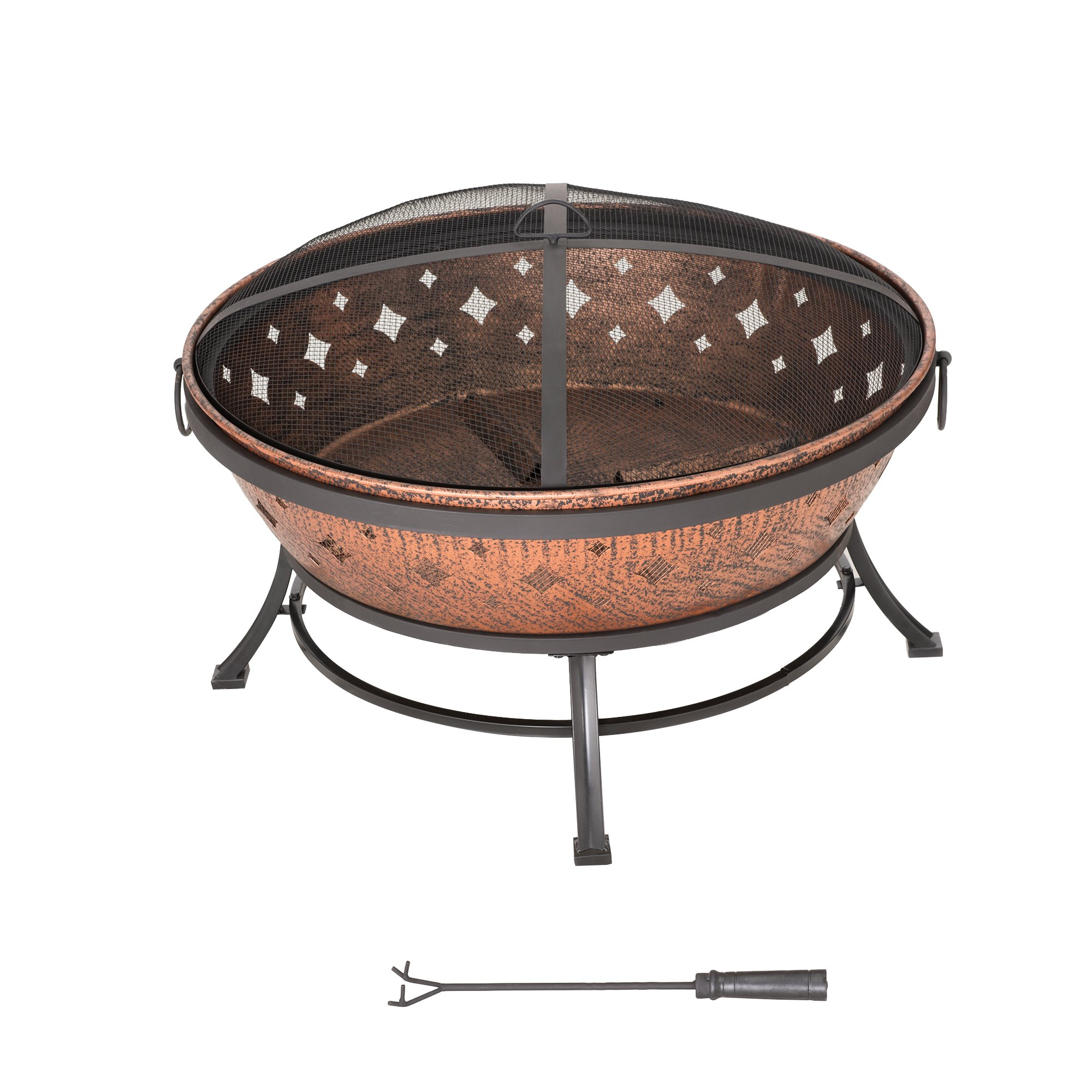 Sunjoy L-FT629PST Squaw Valley Firepit, Cozy Warmth by Sunjoy