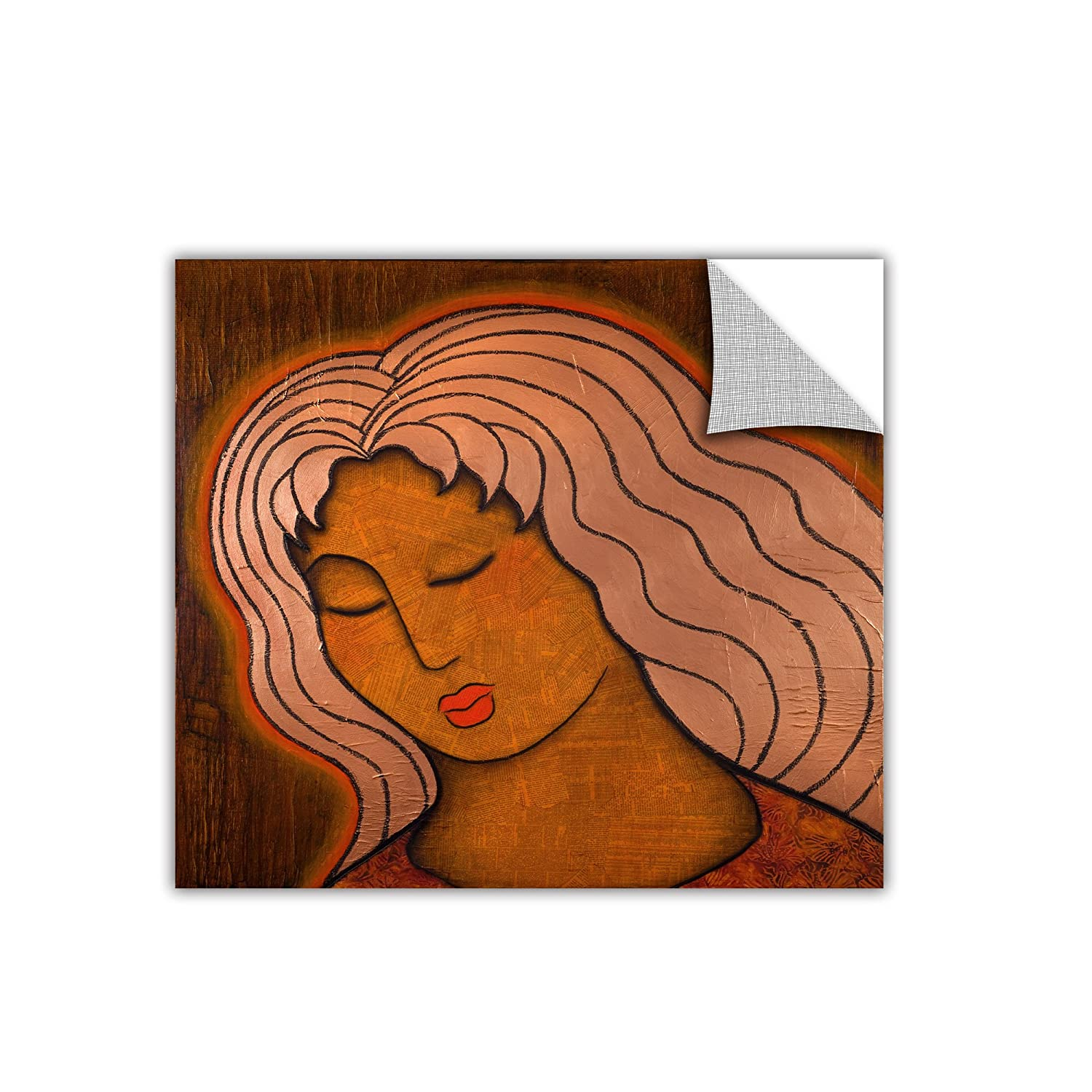 ArtWall ArtApeelz Gloria Rothrock Intuitive listening Removable Graphic Wall Art 14 by 14-Inch