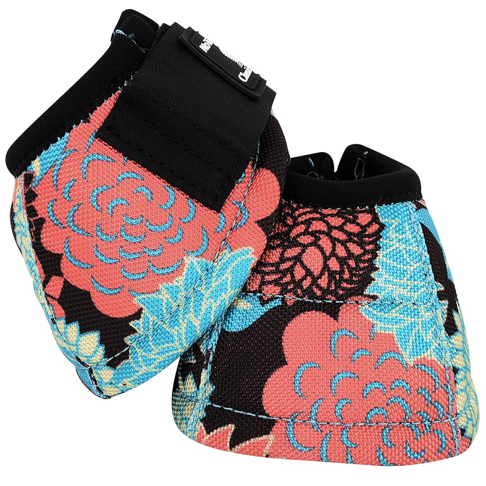 M- CORAL TROPICS CLASSIC EQUINE FRONT REAR LEGACY SPORTS HORSE NO TURN BELL BOOT by Classic Equine (Image #4)
