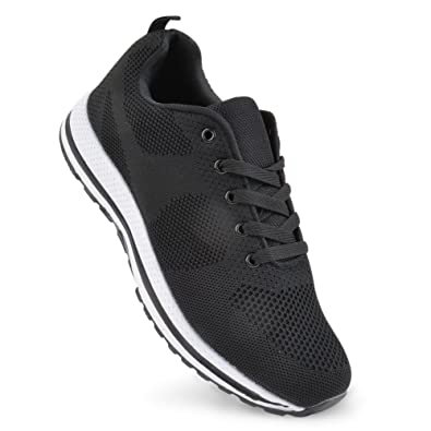 new style 583b8 85f5f Mens Breathable Mesh Running Trainers Athletic Walking Running Gym Sport  Shoes UK 7-11