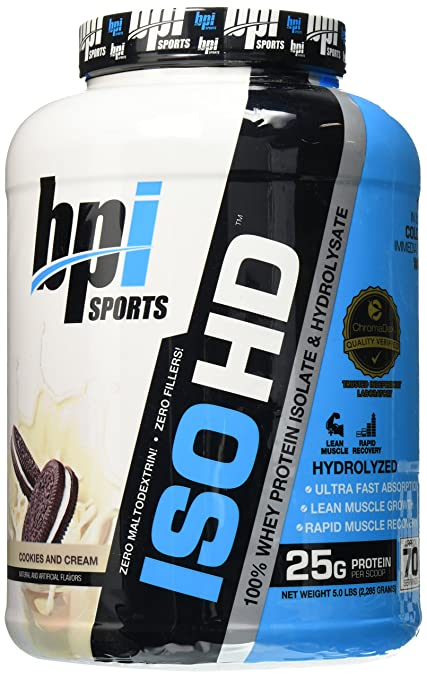 BPI Sports ISO HD - 5.3 Lbs (Cookies and Cream) Sports Supplements at amazon