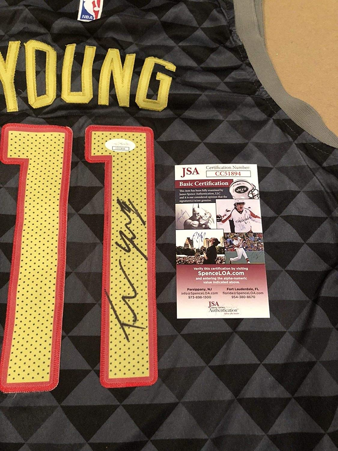 2744cefc9c0 Trae Young Autographed Signed Custom Atlanta Hawks Jersey NBA Star with JSA  Coa - Size XL at Amazon's Sports Collectibles Store