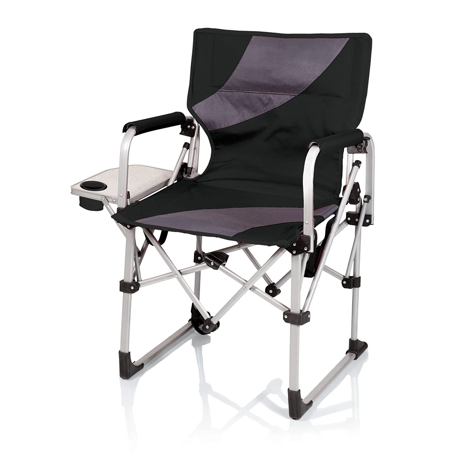 Picnic Time Meta Portable Folding Chair Black Grey Amazon