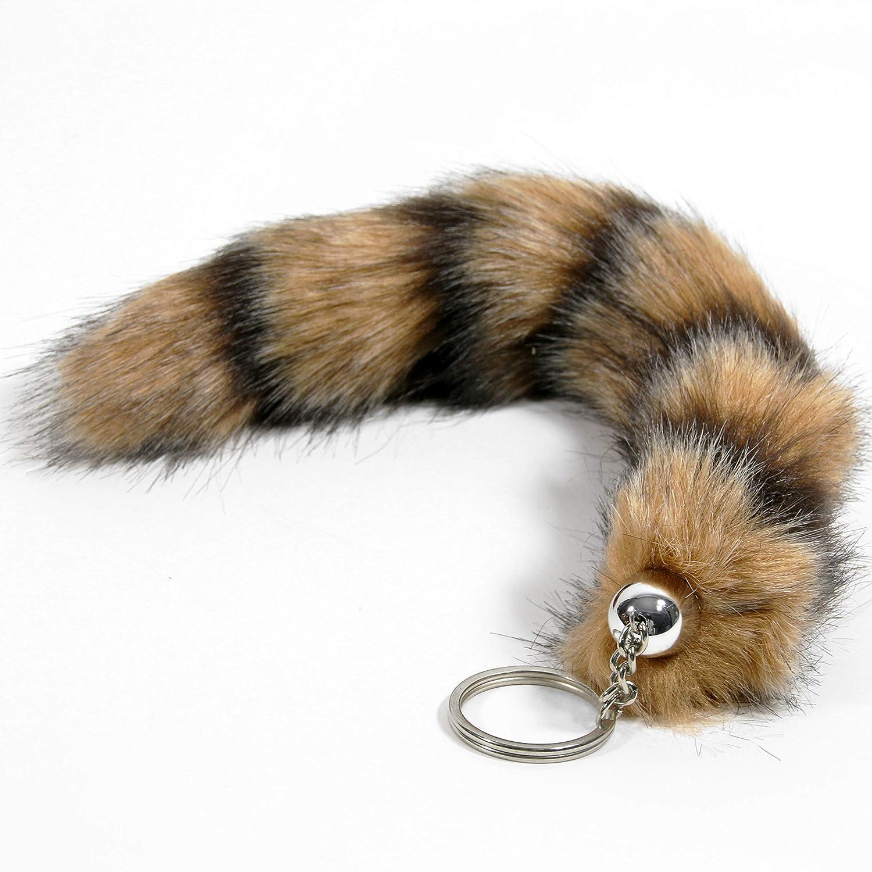 Llavero de cola de zorro / colgante de pelo artificial (con ...