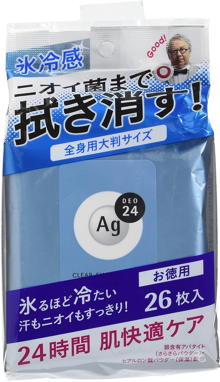 エージーデオ24 クリアシャワーラージシート (クール) 無香料