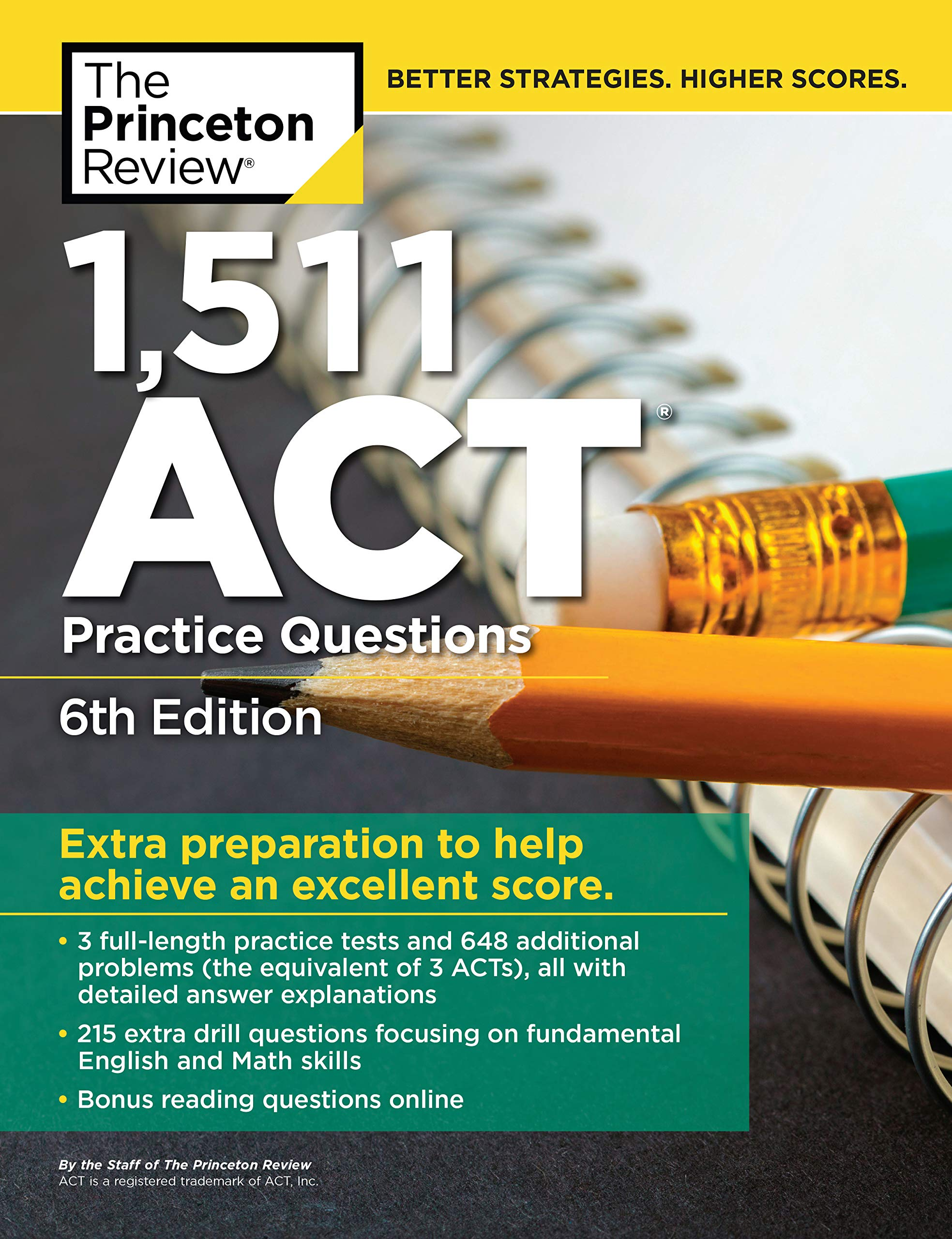 1,511 ACT Practice Questions, 6th Edition: Extra