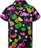 KAMEHAMEHA King Kameha Funky Hawaiian Shirt Men Shortsleeve Frontpocket Hawaiian-Print Melon Flamingo Fruits