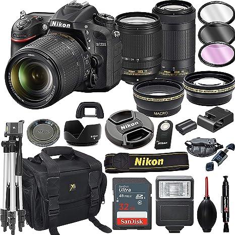 Nikon D7200 cámara réflex Digital con Lentes VR de 18-140 mm y 70 ...