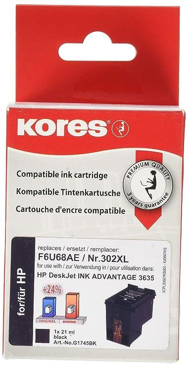 Kores G1745BK - Cartucho de Tinta Compatible con HP ...