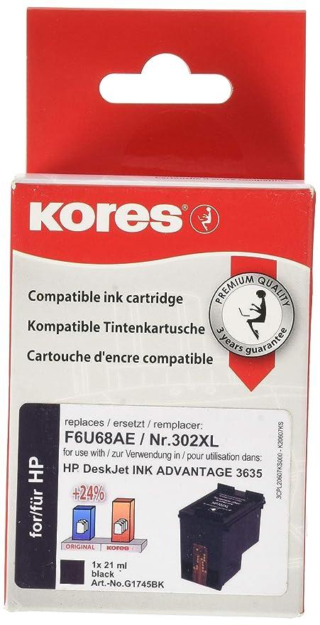 Kores G1745BK - Cartucho de Tinta Compatible con HP Officejet 3830 ...