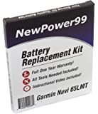 Battery Replacement Kit for Garmin Nuvi 65LMT with Installation Video, Tools, and Extended Life Battery.