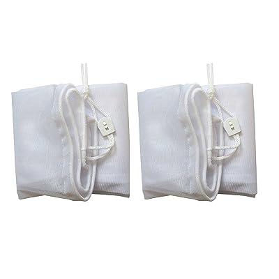 "ATIE PoolSupplyTown 16"" Width x 24"" Length Fine Mesh Leaf Bag with Pull-N-Lock Cord for Pool Leaf Vacuum/Leaf Eater/Leaf Catcher/Leaf Gulper/Leaf Bagger/Leaf Master - (2-Pack) : Garden & Outdoor"
