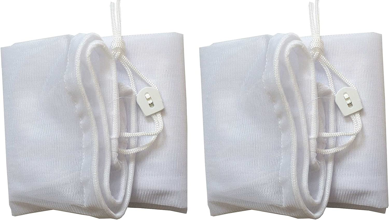 "ATIE PoolSupplyTown 16"" Width x 24"" Length Fine Mesh Leaf Bag with Pull-N-Lock Cord for Pool Leaf Vacuum/Leaf Eater/Leaf Catcher/Leaf Gulper/Leaf Bagger/Leaf Master - (2-Pack)"