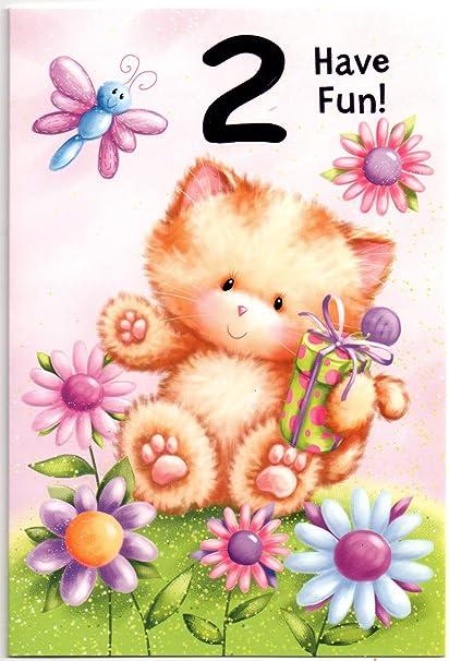 Diseño de tarjeta de cumpleaños para dos (2) años niña ...