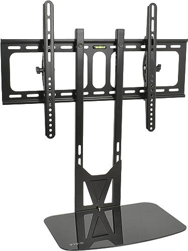 VIVO Swivel Bolt-Down TV Stand for 32 to 55 inch Screens, Desktop VESA Mount, Sturdy Tabletop TV Display STAND-TV00M4