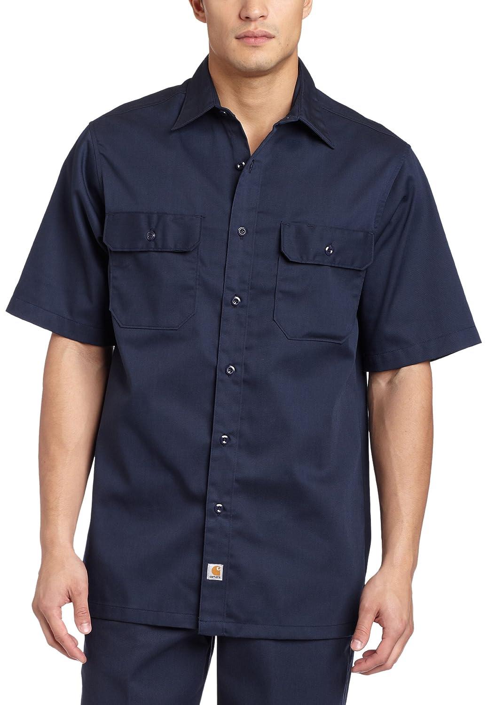 CarharttメンズBig & Tall Twill Short Sleeve Work Shirtボタンフロント B003LO209Q 3L|ネイビー ネイビー 3L