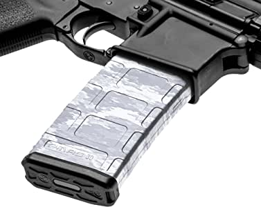 GunSkins AR-15 Mag Skins - 3 Pack - Premium Vinyl Mag Wraps - Easy to Install and Fits 30rd Magazines - 100% Waterproof Non-Reflective Matte Finish - Made in USA