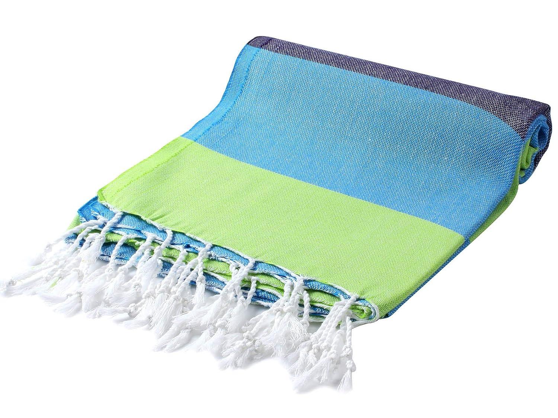 Cacala Toalla de baño turco, modelo Paradise, algodón, Azul lima, 95 x 175 x 0.5 cm: Amazon.es: Hogar