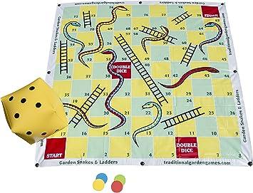 Juegos Tradicionales de Jardín: Juego Serpientes y escaleras de 2 x 2 m - Juegos de Tablero: Amazon.es: Juguetes y juegos